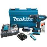 Parafusadeira/Furadeira de Impacto com 2 Baterias 18V + Maleta + Acessórios + Carregador Bivolt - MAKITA-DHP482RAE-P