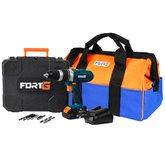 Kit Furadeira/ Parafusadeira de Impacto FORTG-FG3000 1/2 Pol. 20V + Bolsa para Ferramentas Reforçada