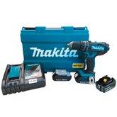 Kit Parafusadeira/Furadeira de Impacto 18V Makita DHP482RAE-BIVOLT + Bateria Íons Lítio 6.0 Ah 18V Makita BL1860B