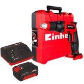 Kit Parafusadeira Drywall EINHELL-TE-DY18LI-SOLO 18V 6Nm 1/4 Pol.com Maleta + Kit Bateria 18V 4.0 com Carregador 18V EINHELL-4512106 Bivolt