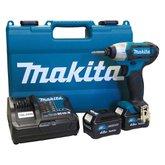 Parafusadeira de Impacto à Bateria 12V de 1/4 Pol. e 2 Baterias 4.0Ah Bivolt - MAKITA-TD110DSME