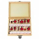 Jogo de Fresas para Tupia com 12 Peças - ROCAST-91,0001