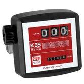 Medidor Mecânico 20 a 120 L/Min. de 3 Dígitos para Óleo Diesel