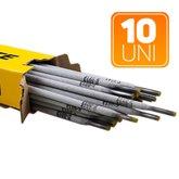 Kit com 10 Eletrodos para Solda 6013 3,25 x 350mm - 1Kg - TITANIUM-K69
