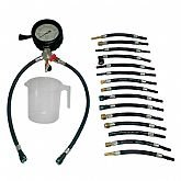Medidor de Pressão e Teste de Vazão de Combustível 4 Pol. com 17 Mangueiras - PRINCIPALTEC-PT003-A