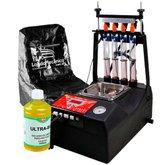 Kit Máquina Limpeza/Teste Bico Alfatest + Capa Máquina de Limpeza FortG-05 + Líquido Limpeza de Bicos Cleaner UB-500 - ALFATEST-K33