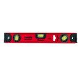 Nível de Alumínio Reforçado Vermelho 16 Pol. 400mm 2 Bolhas 1 Rotativa
