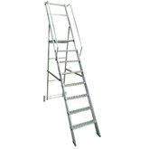 Escada Plataforma Podium 2,00m Dobrável 7 Degraus + Plataforma