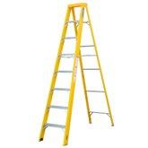 Escada Tesoura Simples em Fibra de Vidro e Alumínio 7 Degraus 2,38 Metros