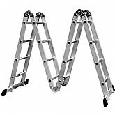 Escada Multifuncional 4x4 em Aço e Alumínio 16 Degraus - FORTGPRO-FG8415