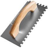 Desempenadeira Dentada de Aço com Cabo de Madeira 12 x 24 cm - MOMFORT-404006