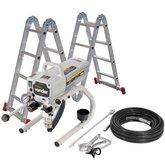 Kit Máquina de Pintura Airless MPA 120 1,2Hp 220V Vonder 6220001220 + Escada Articulada 4x3 12 Degraus de Alumínio