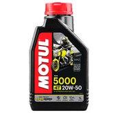 Óleo Lubrificante Semissintético Motul 5000 4T SAE 20W50 para Motos 1L