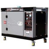 Gerador de Energia Cabinado a Diesel 4T 498cc 7KW Mono Bivolt com AVR e Partida Elétrica