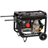 Gerador de Energia a Diesel com Corrente Alternada 4,6Kva 418 CC 380V Trifásico com Partida Elétrica S5000TD