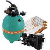 Filtro para Piscina DFR 15 7 + Bomba 1/2CV + 3 Sacos de Areia