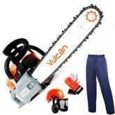 Kit Motosserra a Gasolina 2T 62cc 4HP com Sabre 20 Pol. Vulcan VS620 + Kit de Segurança Tamanho G Sayro 20510