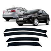 Calha de Chuva 4 Portas Ford New Fiesta Sedan 2010 até 2018
