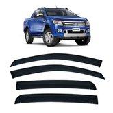 Calha de Chuva 4 Portas Ford Nova Ranger 2012 até 2018 Cabine Dupla
