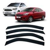 Calha de Chuva 4 Portas Novo Ka Hatch 2014 até 2020 Novo Ka Sedan 2014 até 2020