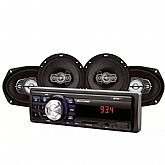Kit Som Automotivo Mp3 com Entrada SD, Usb, Rádio Fm e Função Relógio com 4 Alto Falantes - MULTILASER-AU955