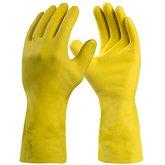 Luva de Segurança Silver Látex Amarela Tamanho G