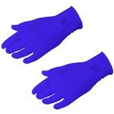 Luva de Tecido Antiviral Azul Tamanho M