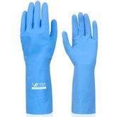 Luva Látex Verniz Silver Standard Azul - Extra Grande