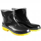 Bota Impermeável PVC Acqua Flex Cano Extra Curto Preto com Solado Amarelo N° 38
