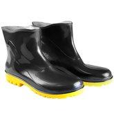 Bota Impermeável PVC Acqua Flex Cano Extra Curto Preto com Solado Amarelo N° 39 - BRACOL-82BPE600CEC39