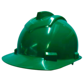 Capacete de Segurança 800 Verde Aba Frontal com Carneira Simples
