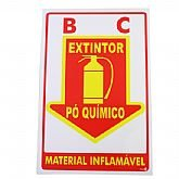Placa Sinalizadora Extintor Pó Químico  - ENCARTALE-PS88