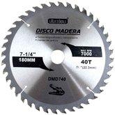 Disco de Serra Circular de 7.1/4 Pol. para Madeira - 40 Dentes - UYUSTOOLS-DMD740