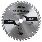 Disco de Serra Circular de 10 Pol. para Madeira - 40 Dentes - UYUSTOOLS-DMA410