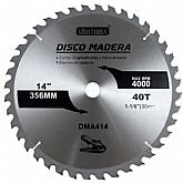 Disco de Serra Circular de 14 Pol. para Madeira - 40 Dentes - UYUSTOOLS-DMA414