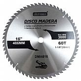 Disco de Serra Circular de 16 Pol. para Madeira - 60 Dentes - UYUSTOOLS-DMA616