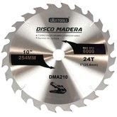 Disco de Serra Circular de Wídea 10 Pol. para Madeira - 24 Dentes - UYUSTOOLS-DMA210