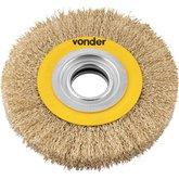 Escova circular 6 Pol. x 1 Pol. (152 mm x 25,4 mm) com bucha de redução VONDER