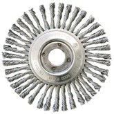 Escova Circular de Fio Entrançado 0,5mm 6x1/4 pol.