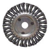 Escova Circular Trançada Aço Carbono 6x1/2x7/8 Pol. - CARBOGRAFITE-012258212