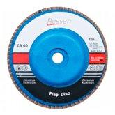 Disco Flap 115 x 22 mm Grão 80 com Suporte de Plástico - HESSEN-29986