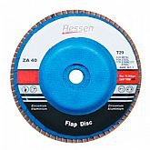 Disco Flap 115 x 22 mm Grão 120 com Suporte de Plástico  - HESSEN-29987
