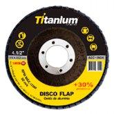 Disco Flap de Óxido de Alumínio de 4.1/2 Pol. Grão 60 - TITANIUM-5198