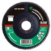 Disco Flap Cônico de Zircônio de 115mm Grão 120 - CARBOGRAFITE-10576010