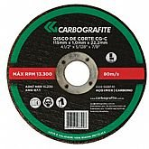 Disco de Corte 115 x 3,2 x 22,2mm para Aço Carbono e Metais
