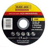 Disco de Corte para Aço Inoxidável 115 x 1 x 22,2mm  - BLACK JACK-J500