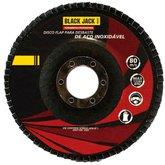 Disco Flap para Desbaste de Aço Inoxidável 115mm Grão 100 - BLACK JACK-J587