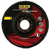 Disco Flap para Desbaste de Aço Inoxidável 180mm Grão 40 - BLACK JACK-J570