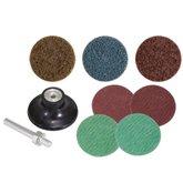 Jogo de Disco de Lixa com Esponja Abrasiva 50mm com 9 Peças - VONDER-1250009000