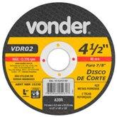Disco de Corte 115 x 3,2 x 22,23mm G30 para Aço e Metais Ferrosos - VONDER-1215412187